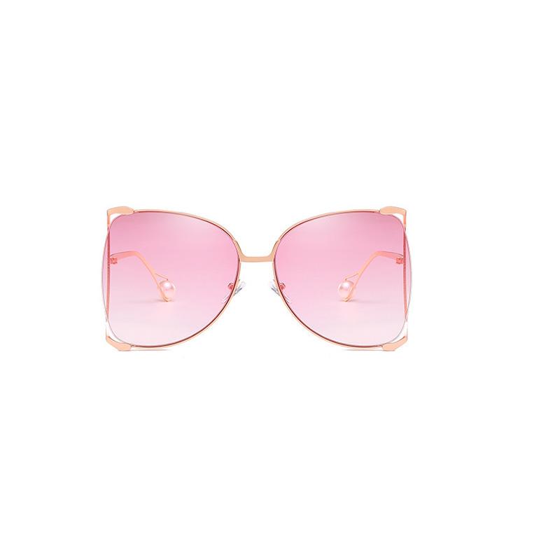 Lovely Chic Gradual Change Light Pink Metal Sunglasses