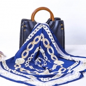 Lovely Casual Printed Blue Scarves