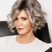 Lovely Trendy Short Curly Silver Wigs