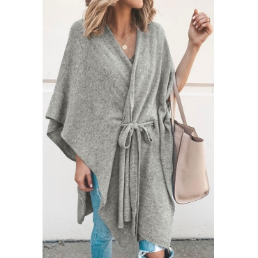 Lovely Trendy Cloak Design Apricot Cardigans