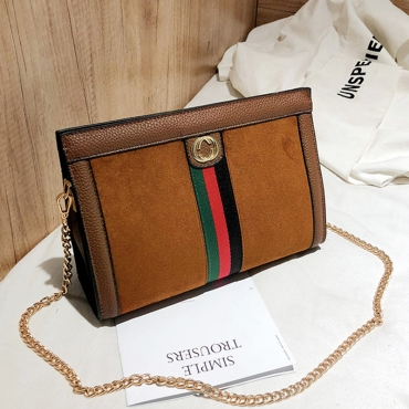 Lovely Chic Patchwork Brown  Messenger