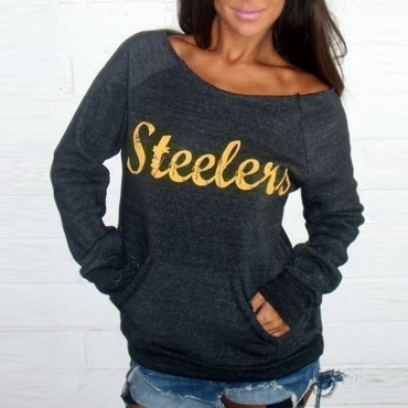 Lovely Casual Letters Printed Grey Cotton Sweats