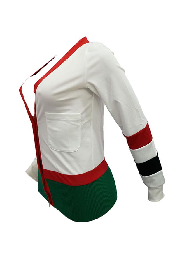 Encantadora Moda Dividida Conjunta De Mezcla De Suéteres Blancos