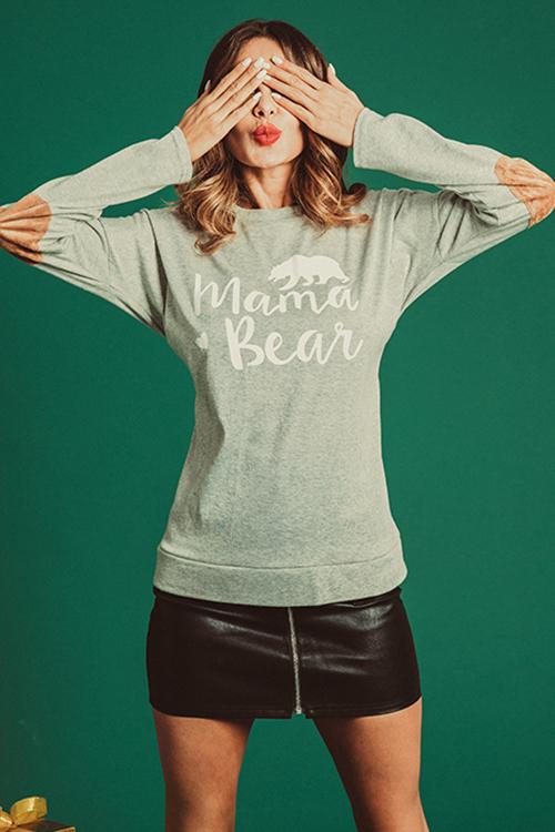 Camiseta Casual Elegante Con Letras Grises Impresas