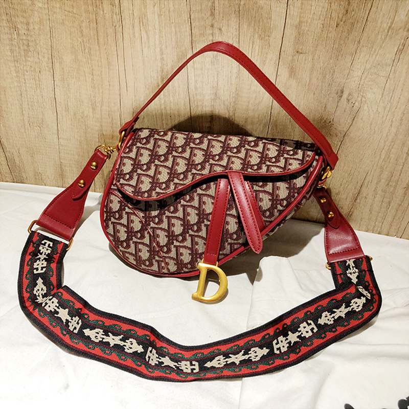 Lovely Vintage Letters Red Oxford Fabric Messenger
