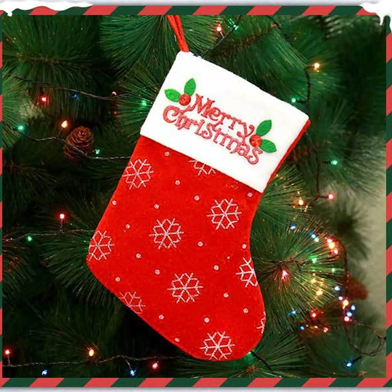 Lovely Fashion Christmas Snowman Red Socks
