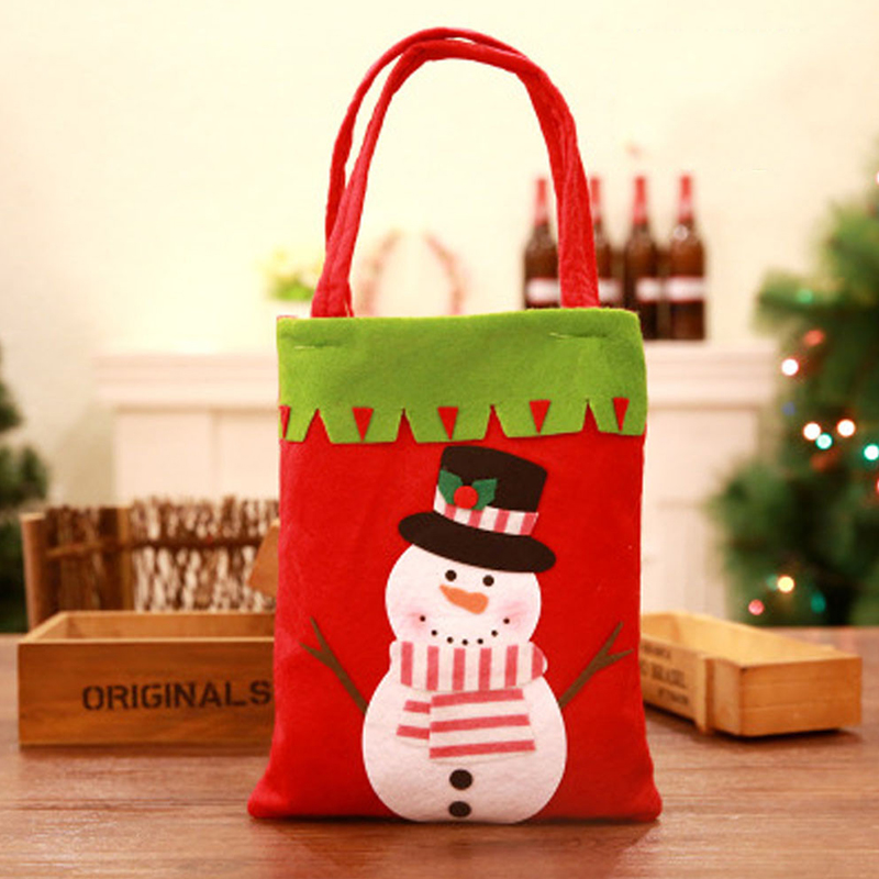 Lovely Fashion Christmas Snowman Red Storage Bags