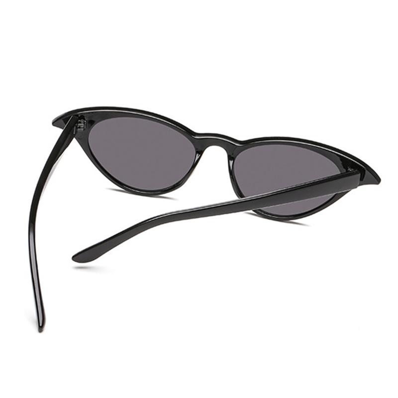 Lovely Trendy  Cat s Eye Frame Design Black PC Sunglasses