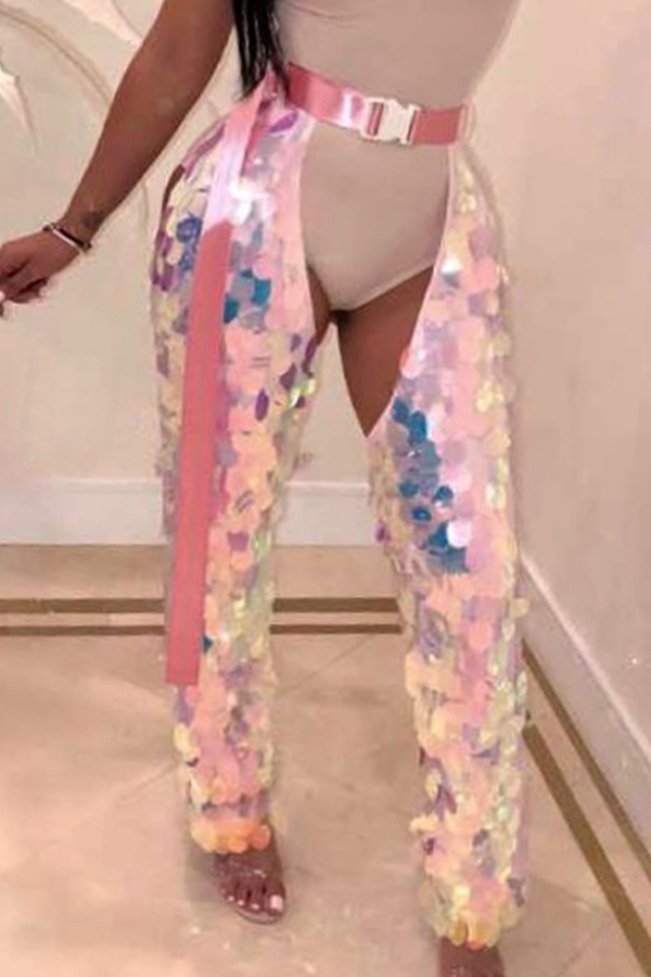 Lovely Trendy Sequined Decorative Multicolor Pants