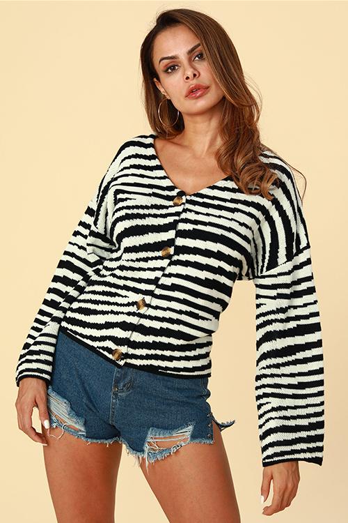 Lovely Acrylic Work Regular Long Sleeve Cardigan Sweaters & Cardigans