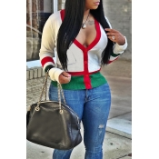 Lovely Fashion Split Joint White Blending Sweaters