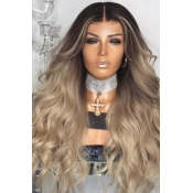 Lovely Chic Gradual Change Gold Long Curly Wigs