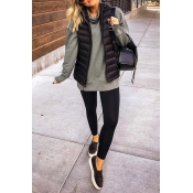 Lovely Casual Winter Black Vests