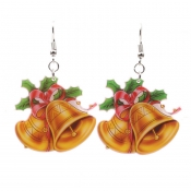 Lovely Fashion Christmas Bell Yellow Earring