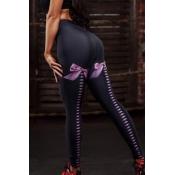 Lovely Sportswear Printed Black Leggings