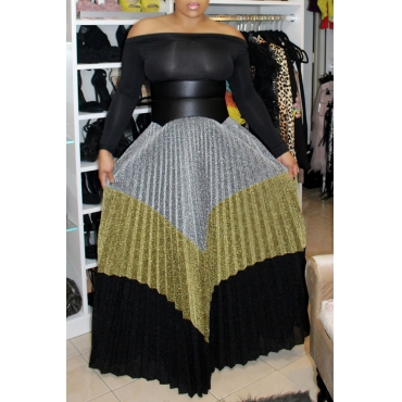 Lovely Casual Multicolor Patchwork Floor Length Skirts