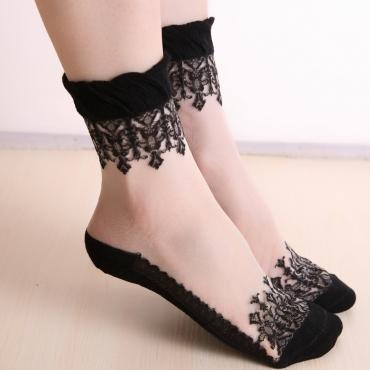 Lovely Sexy Lace Black Socks