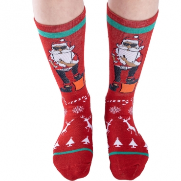 Lovely Fashionable Christmas Pattern Red Socks