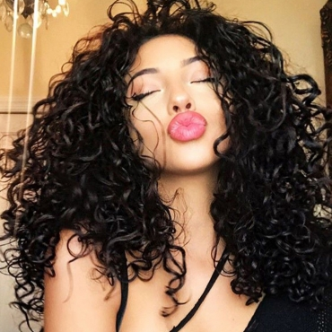 Lovely Trendy Curly Black Wig(16inch*2+18inch*2+20inch*2)