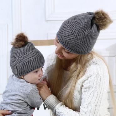 Lovely Fashionable Grey Hats (Parent-child Cap)