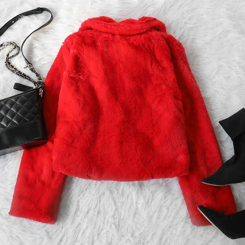 Lovely Euramerican Long Sleeves Red Cotton Coat