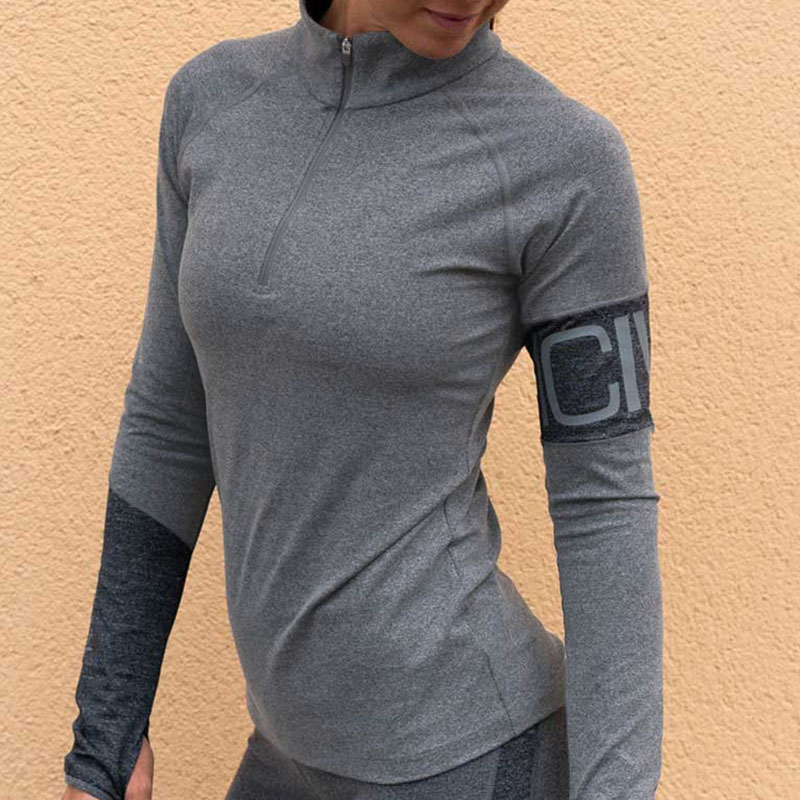 Lovely Sportswear Light Grey Knitting Blouses