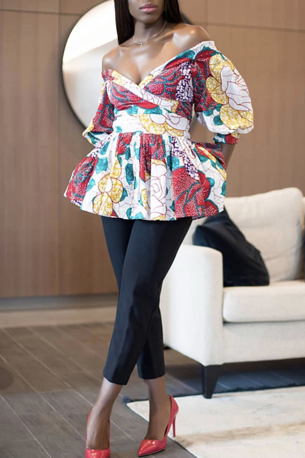 Lovely Trendy Printed  Multicolor Blouses