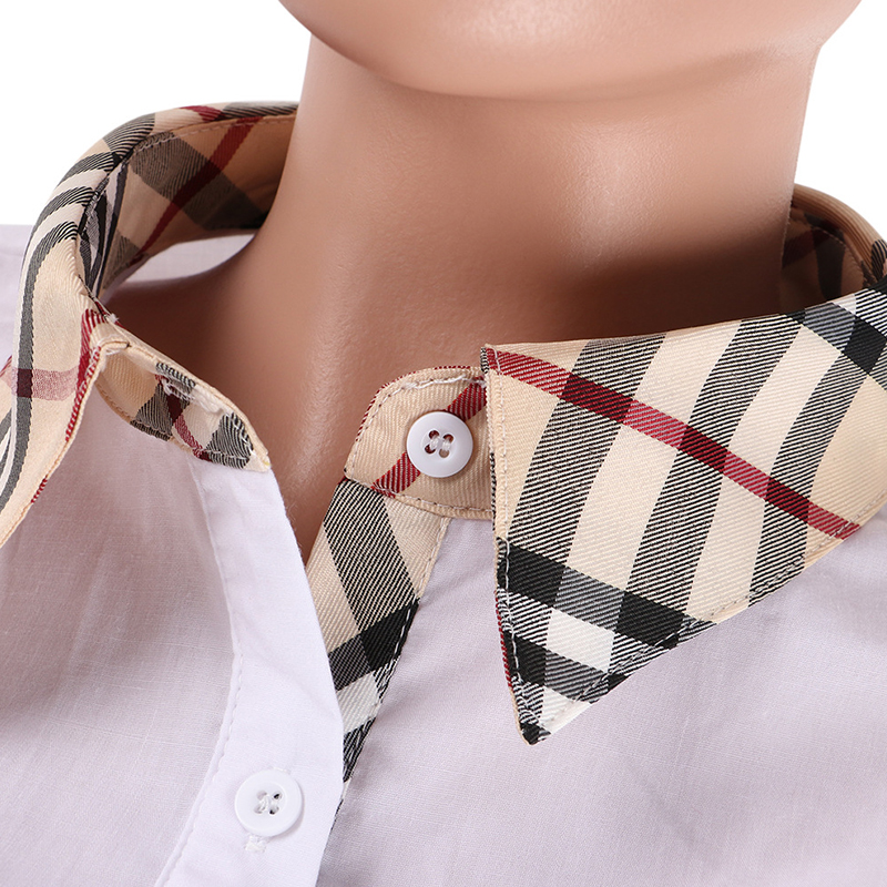 Lovely Casual Patchwork White Cotton Shirts