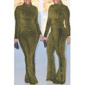 Pantalone Biposto In Divisa Oro A Strisce Alla Moda