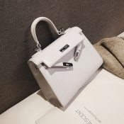 Lovely Trendy White PU Shoulder Bags