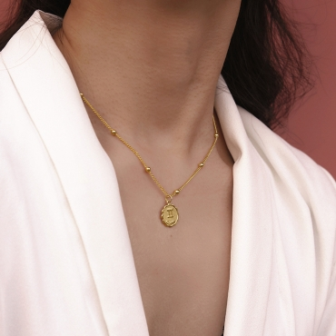 Lovely Chic Gemini Gold Metal Necklace