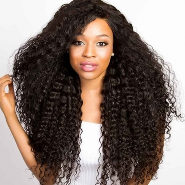 Lovely  African Long Curly Black Wigs