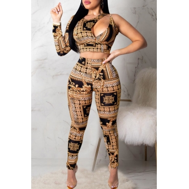 Lovely Casual Hollowed-out Black Twilled Satin  Two-piece Pants Set