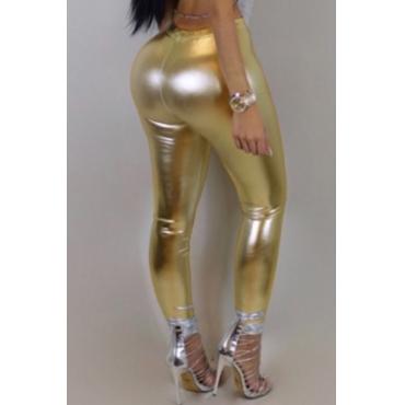 Lovely Trendy Skinny Gold Pants