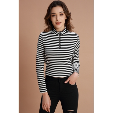 Lovely Trendy Striped Black Base Layers