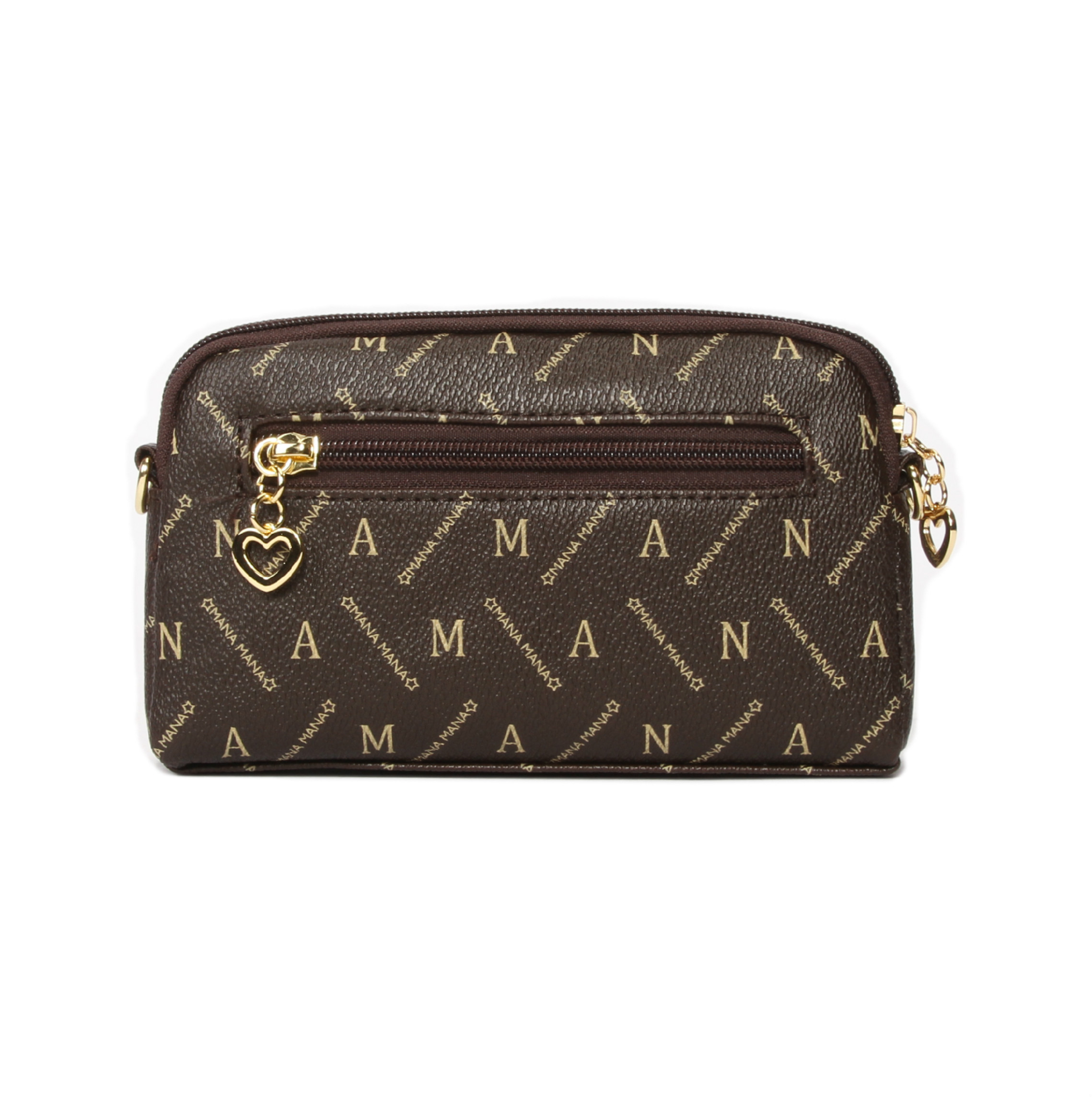 Lovely Vintage Letters Printed Chocolate Crossbody Bag
