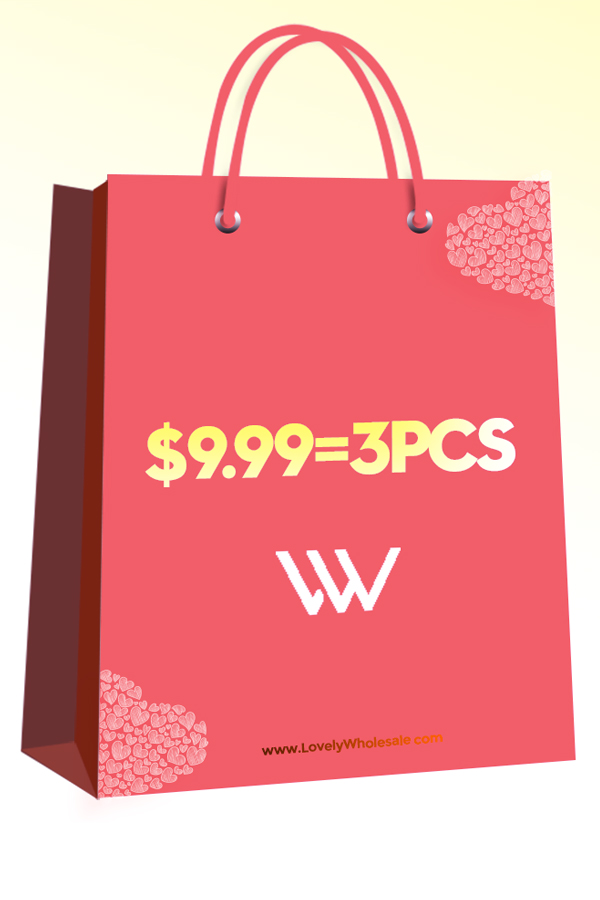 Lovely Lovely 8th Anniversary Sale Bag: 3 items for $9.99,please choose your size