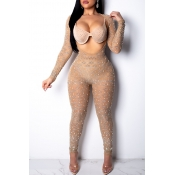 Lovely Sexy Apricot  One-piece Jumpsuit(It Can Be