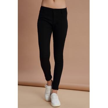 Lovely Trendy Skinny Black Denim Jeans