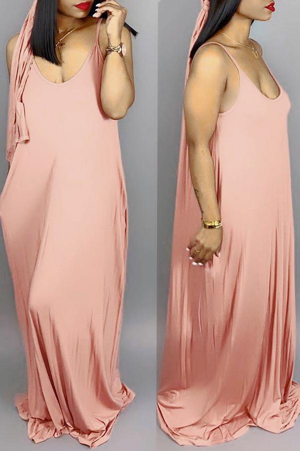 Dresses Lovely Casual V Neck Asymmetrical Wine Red Blending Floor Length Dress фото