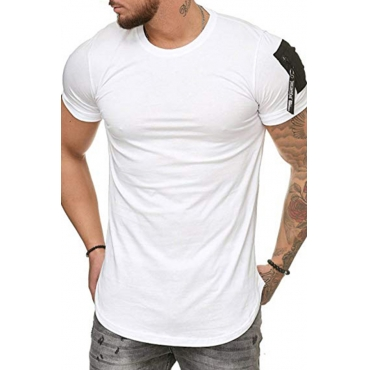 Lovely Casual Short Sleeves White Cotton T-shirt