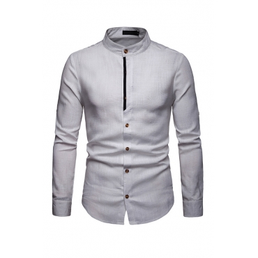 Lovely Trendy Long Sleeves White Cotton Shirts