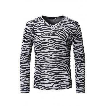 Lovely Casual Animal Printed Black Blending T-shirt