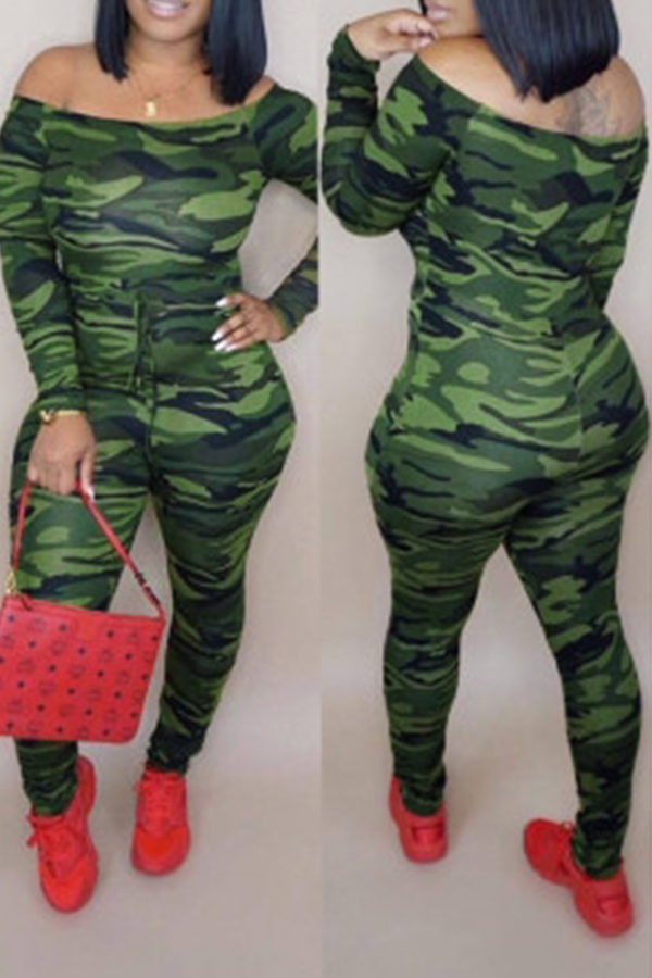 Lovely Casual Camouflage Printed One-piece Jumpsuit