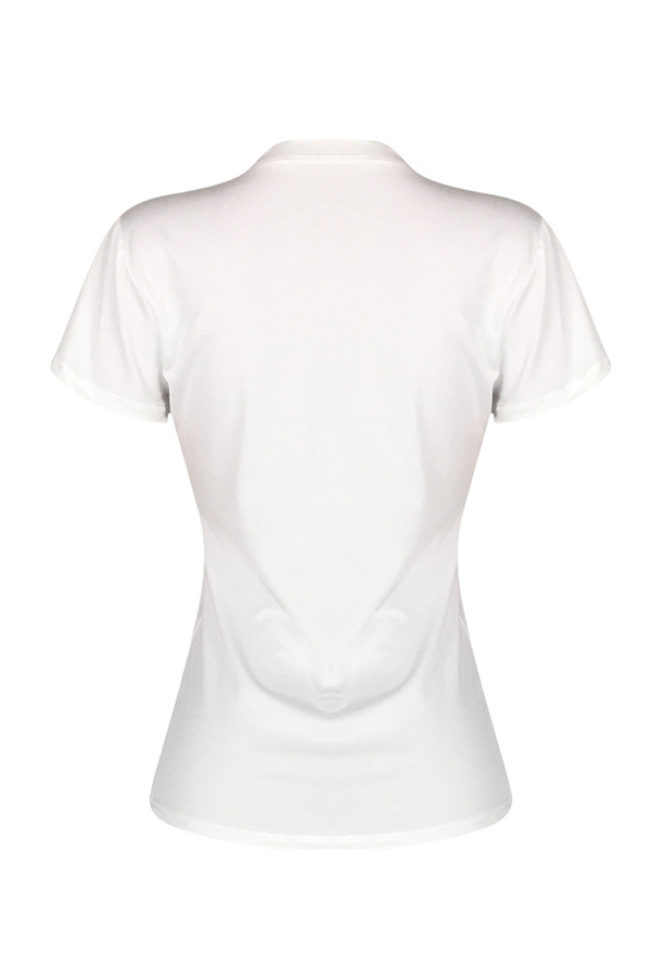 Lovely Casual Letters Printed White T-shirt