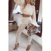 Lovely Sweet Dots Printed White Gauze Two-piece Pa