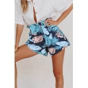 Lovely Bohemian Printed Blue Shorts