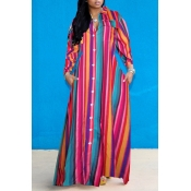 Lovely Casual Striped Loose Multicolor Ankle Lengt