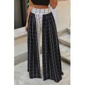 Lovely Grid High Elastic Pants