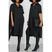 Lovely Black Short Sleeve Casual Shirts